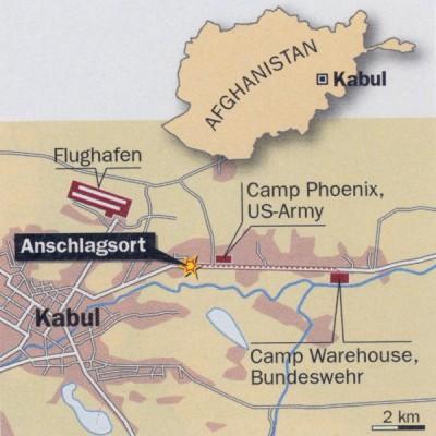 Leben nach dem Anschlag, Karte