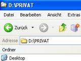 Privatdateien auf Dienstrechner