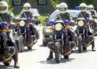 Protokolldienst: Die Feldjäger stellen Motorrad-Eskorten zur Begleitung hochrangiger Gäste.