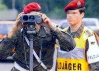 Raser unerwünscht: Auch wenn Geschwindigkeitsmessungen in der Truppe nicht gern gesehen werden, dienen sie der Verkehrssicherheit.