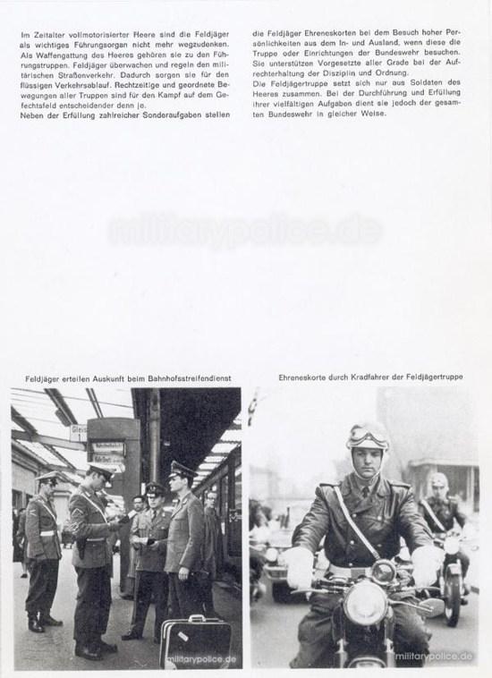"""Heftreihe """"Unser Heer"""", Heft Nr. 14 - Feldjäger - von 1962, Seite 3"""