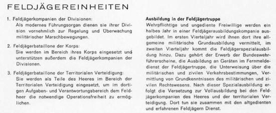 """Heftreihe """"Unser Heer"""", Heft Nr. 14 - Feldjäger - von 1962, Seite 5, Teil 1"""